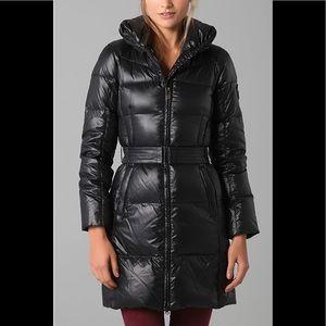 Add Down Shiny Icon Puffer Winter Coat In Black